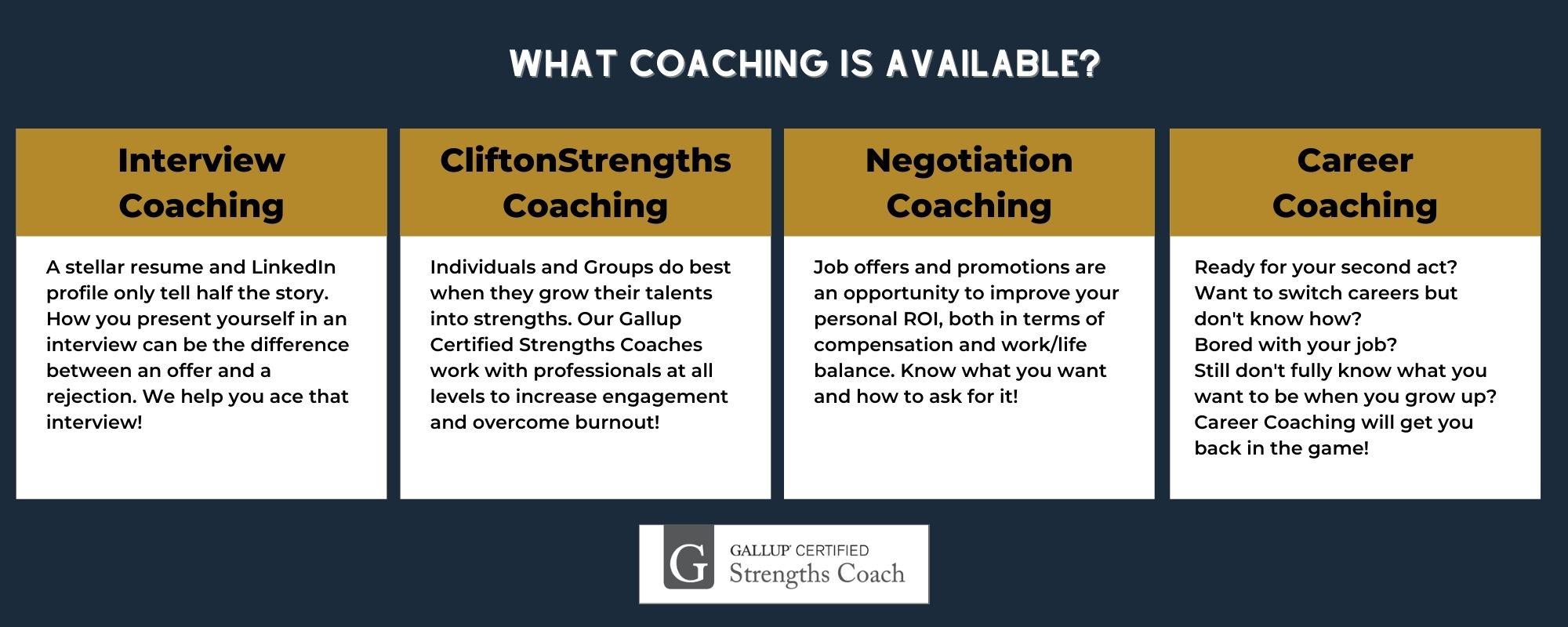 Types of Career Coaching